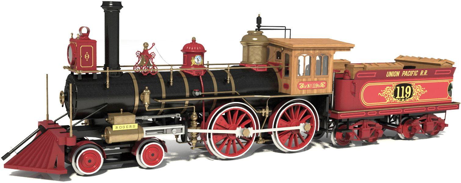 Occre Rogers Union Pacific 119 Wild West Locomotive 1:32 Scale Model Train  Kit