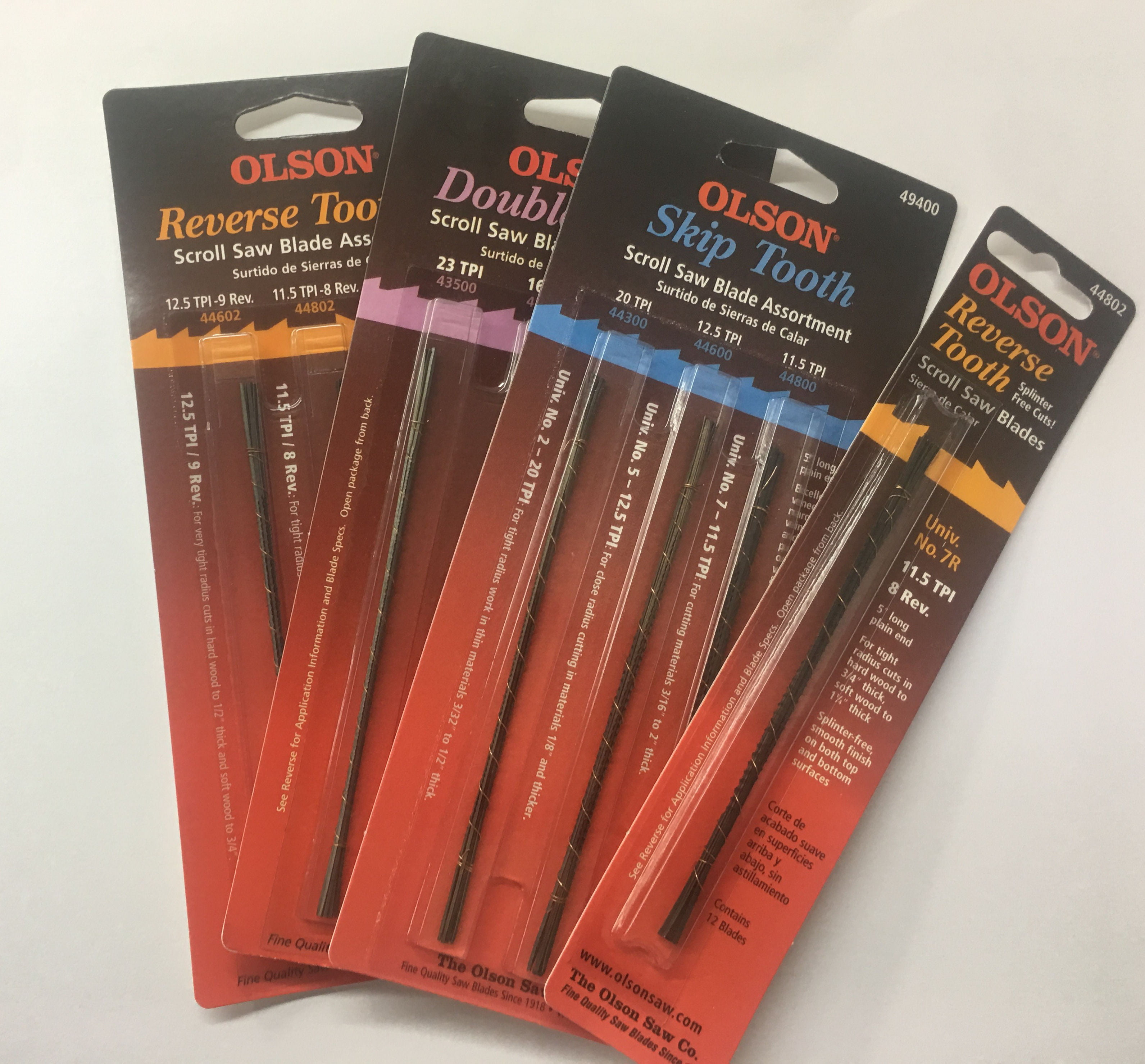 Olson SA4950 18-Pinned Scroll Blades