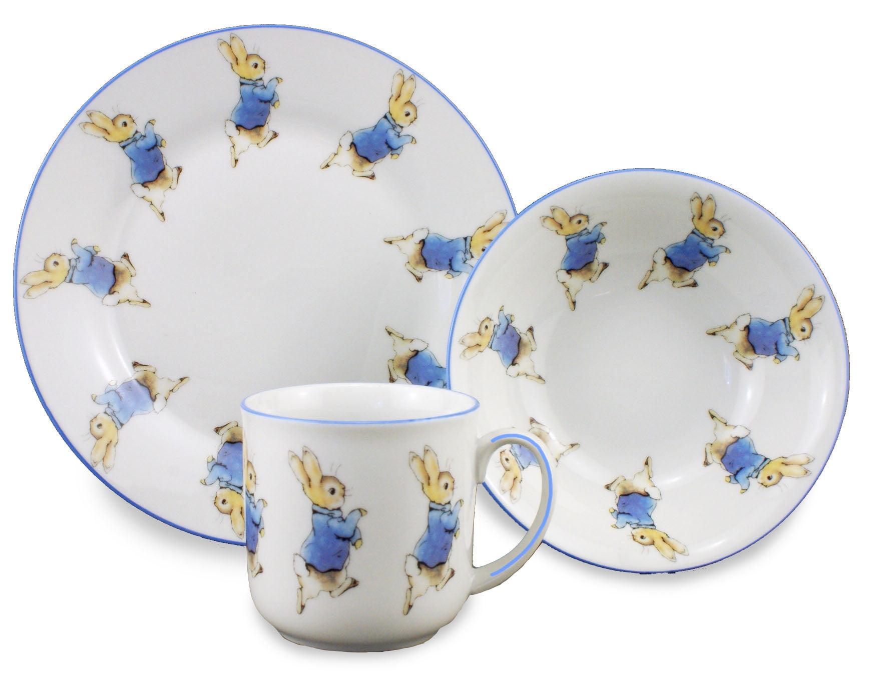 Peter Rabbit 3 Piece Porcelain Childu0027s Breakfast Set The World of Beatrix Potter  sc 1 st  Always Hobbies & Peter Rabbit 3 Piece Childu0027s Breakfast Set Reutter Porcelain ...