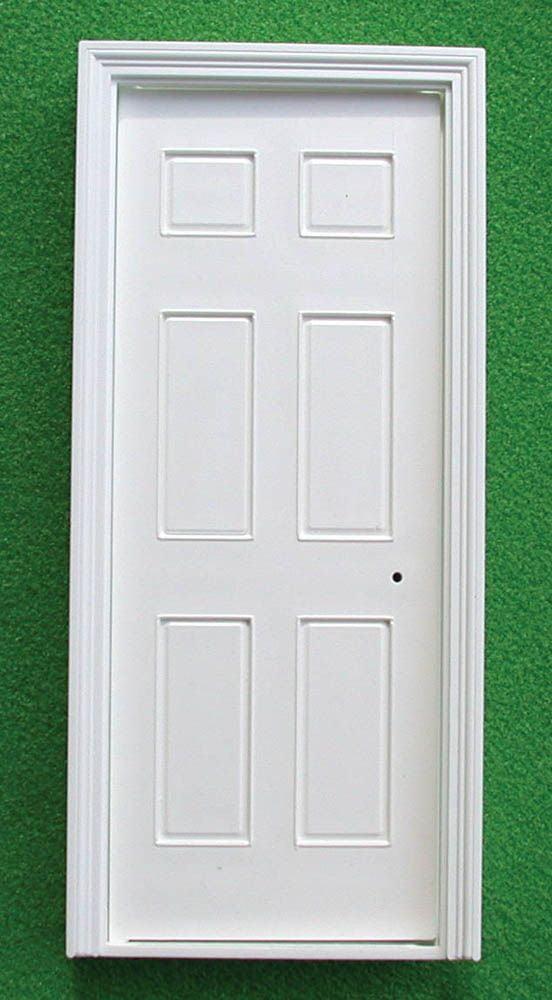 12th scale dolls house internal georgian door with for Door architrave
