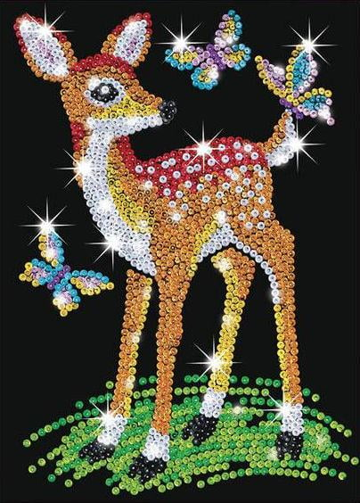 Sequin art junior fawn 0710 ksg hobbies for Tableau en sequin