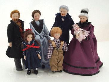 12th Scale Dolls House Porcelain Victorian Dolls House