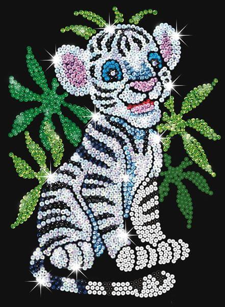 Sequin Art Junior White Tiger Cub 0906 Ksg Hobbies