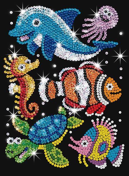 Sequin Art Junior Sealife 0908 Ksg Hobbies