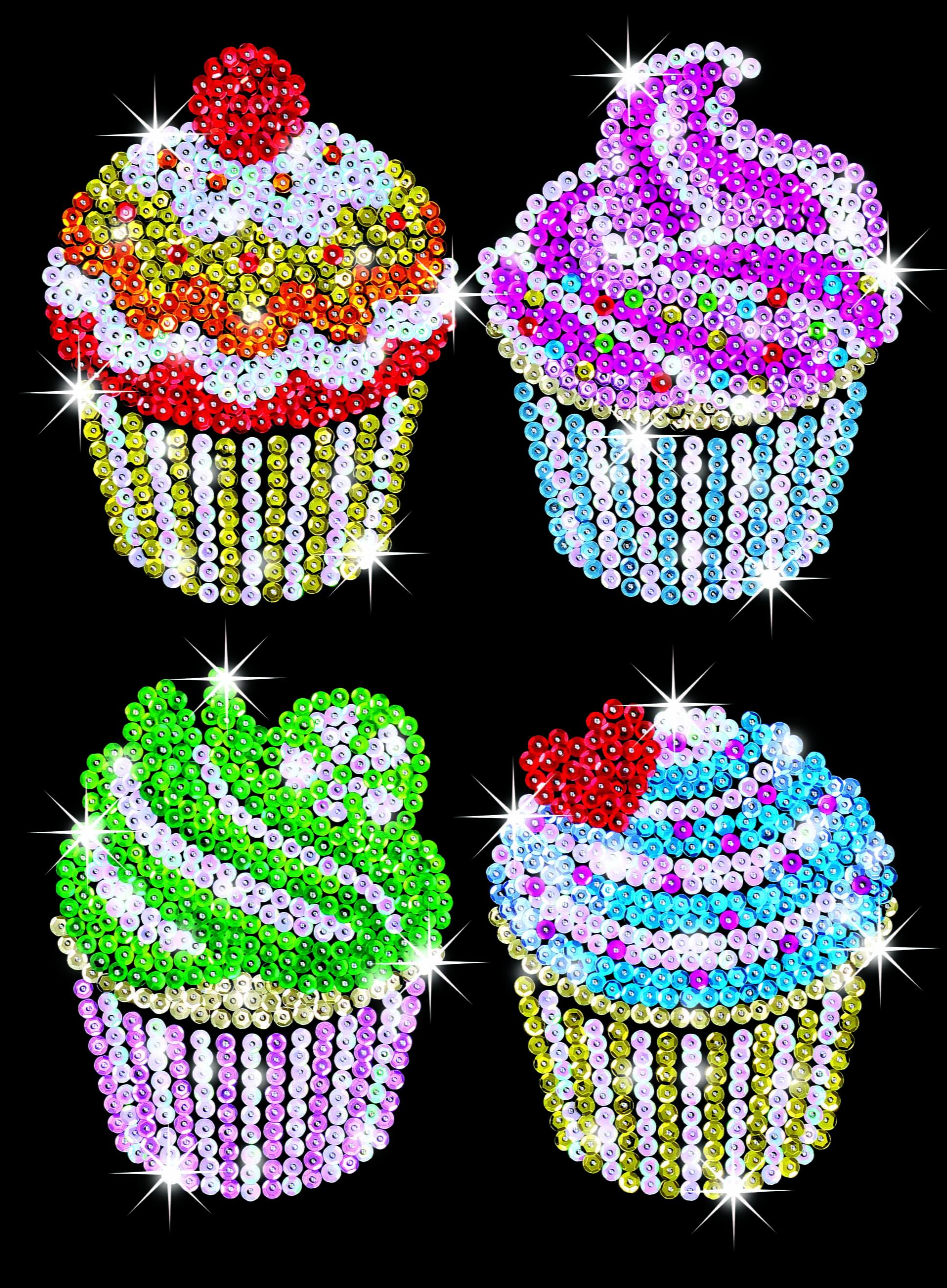 Sequin Art Craft Kit Cupcakes 1130 Hobbies
