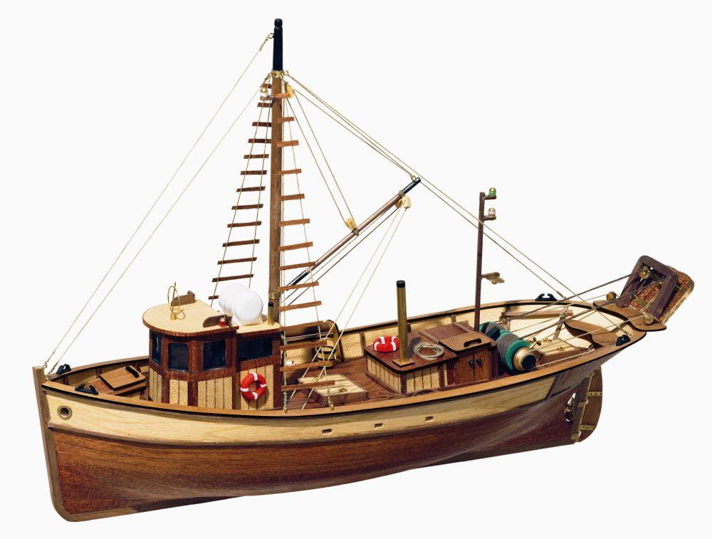 Occre palamos fishing model boat display kit 12000 hobbies for Build fishing boat