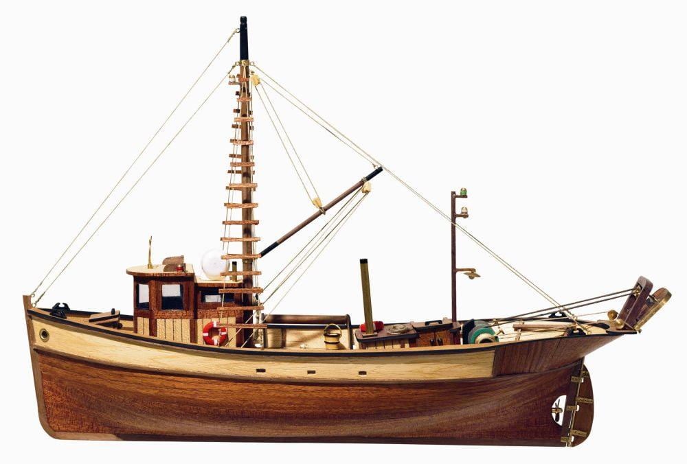Occre Palamos Fishing Model Boat Display Kit 12000