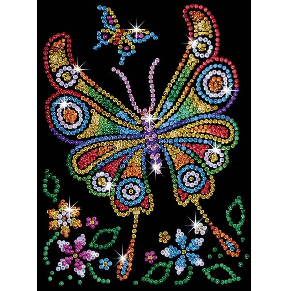 Sequin Art Red Butterfly Craft Kit Hobbies