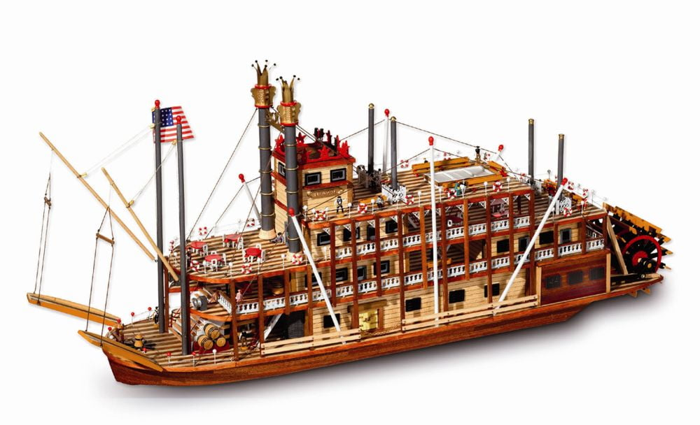 Occre Mississppi 1/80th Scale Model Boat Display Kit 14003 ...