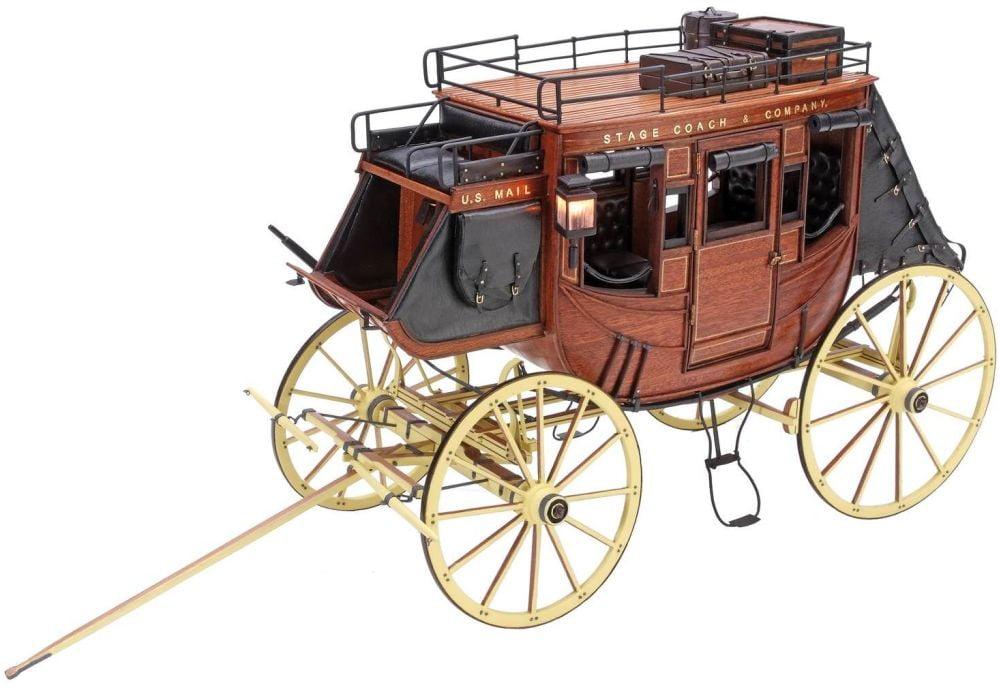 artesania latina 1848 stage coach 1 10 scale museum quality model kit 20340 hobbies. Black Bedroom Furniture Sets. Home Design Ideas
