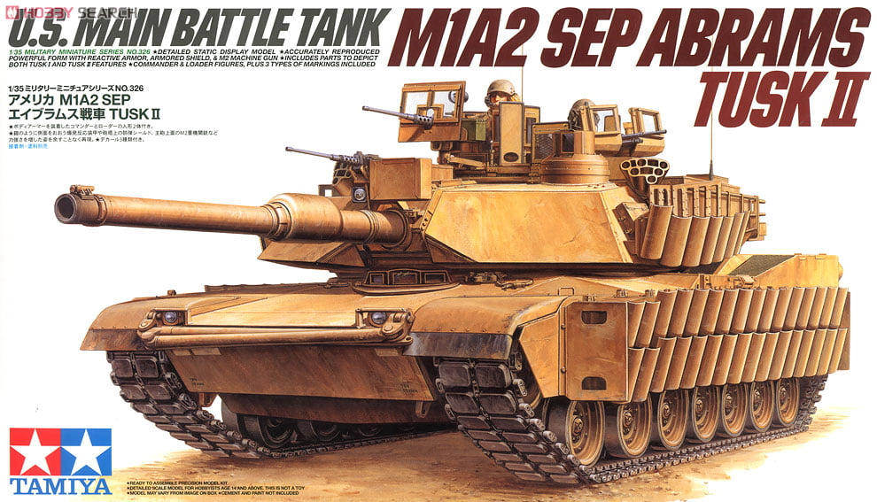 Tamiya Us Main Battle Tank M1a2 Sep Abrams Tusk Ii