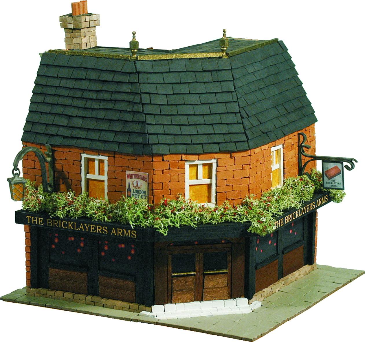Domus kits the brick layers arms for Brick kit homes