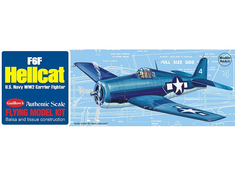 Guillows F6F Hellcat Balsa Wood Aircraft Kit
