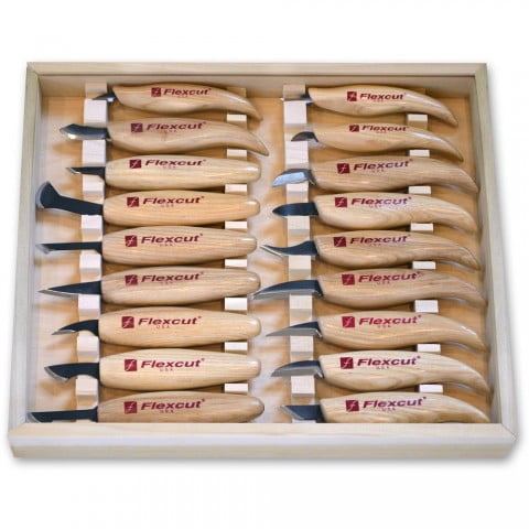 Flexcut Carving Tools KN250 Deluxe Whittling Knife Set ...