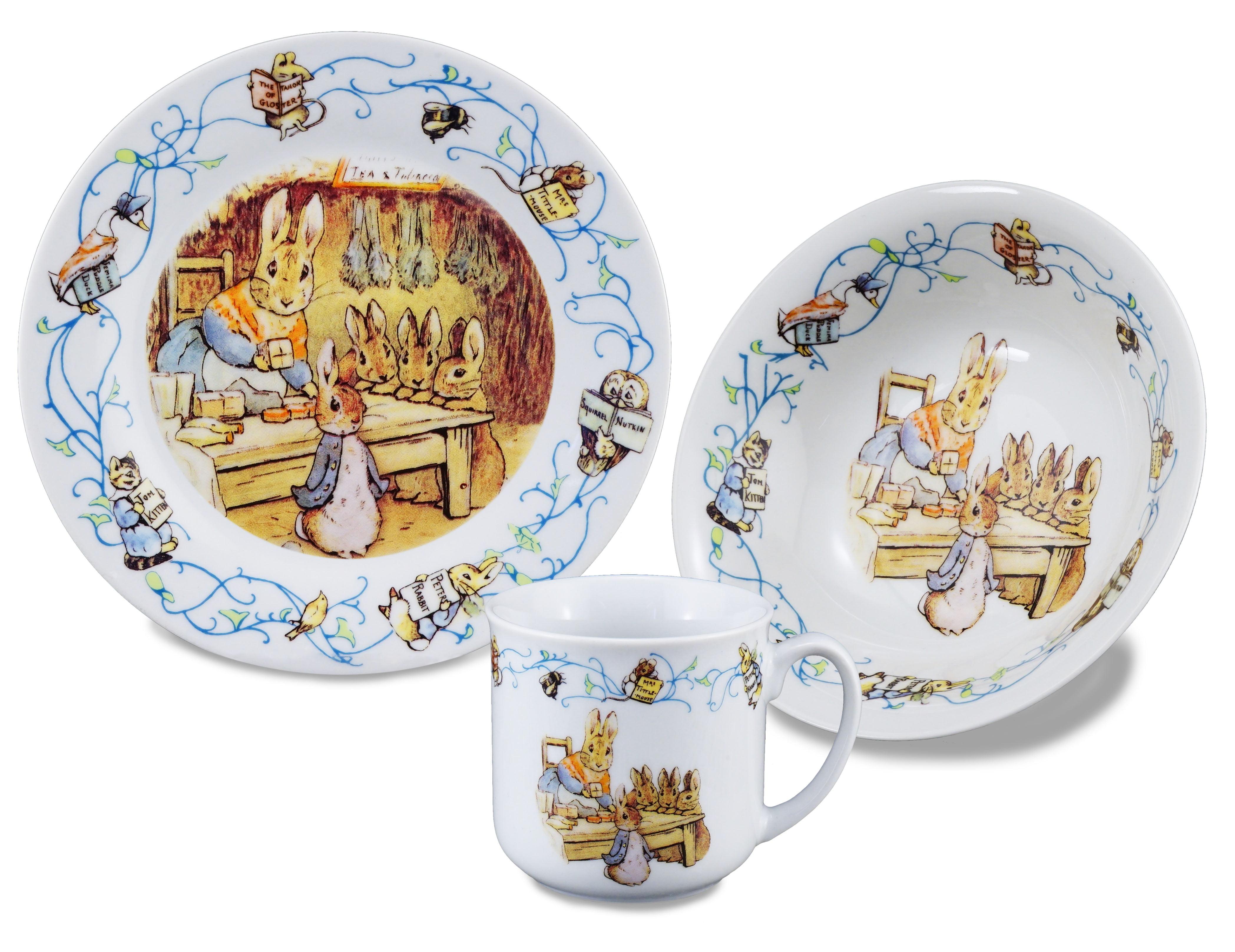 Reutter Porcelain Beatrix Potter 150th Anniversary 3 Piece