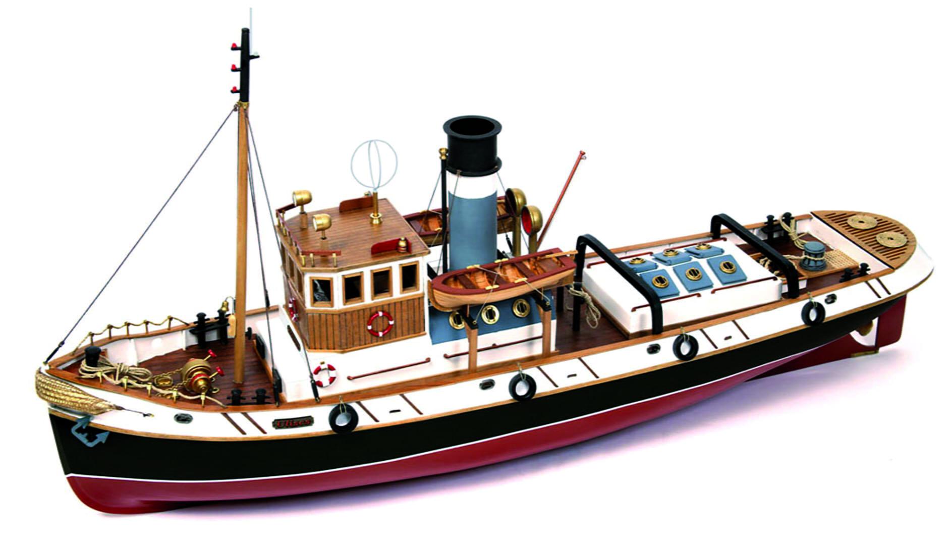 Boat Kits Product : Occre ulises tug scale model rc wood metal boat kit