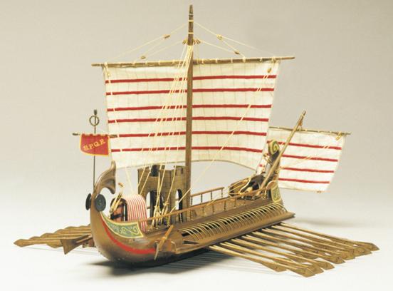 Mantua Models Roman Bireme 130 Scale Wooden Model Ship Kit