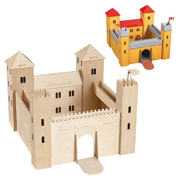 Wooden Toy Castle Flat Pack Craft Kit 887 | Hobbies