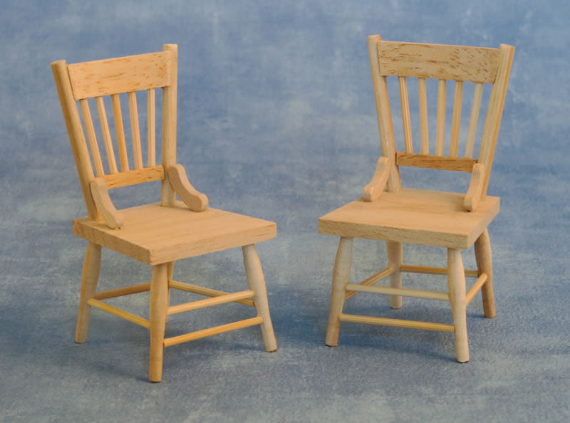 12th Scale Barewood Chairs Hobbies