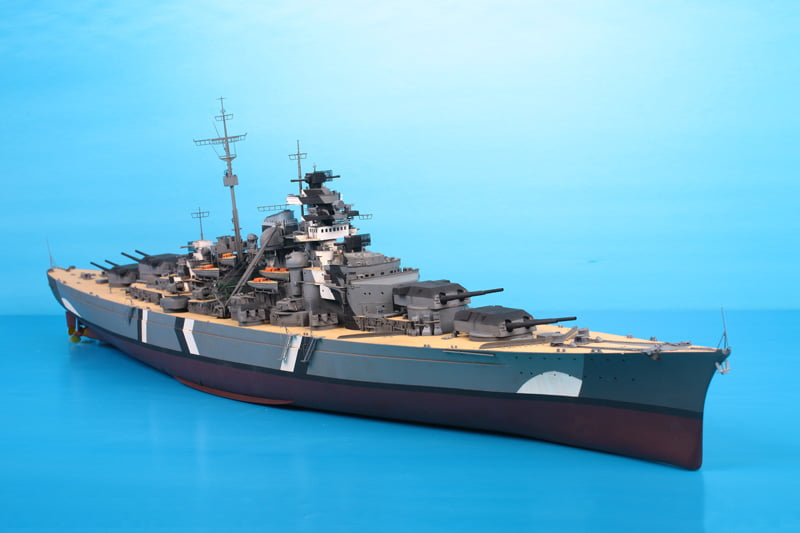 Trumpeter German Battleship Bismarck 200th Scale Model Kit ...
