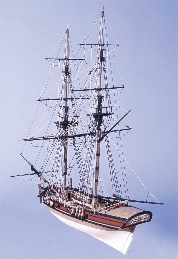Caldercraft Hm Brig Badger Period Ship Kit 9017 Model Boat