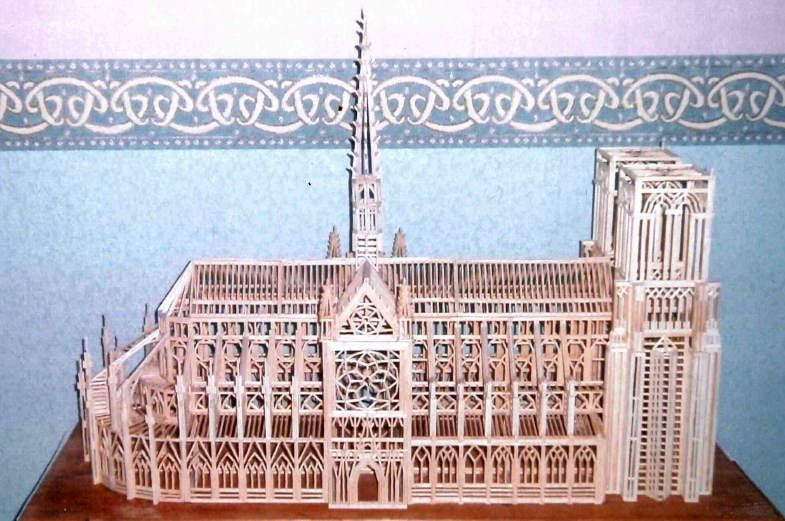 Matchitecture Notre Dame Cathedral Kit 840 X 620mm