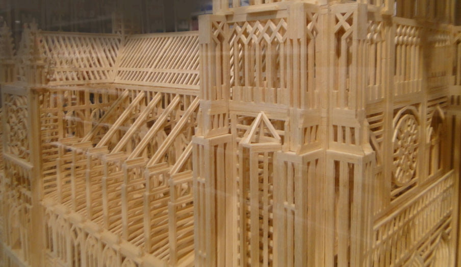 how to build matchstick models