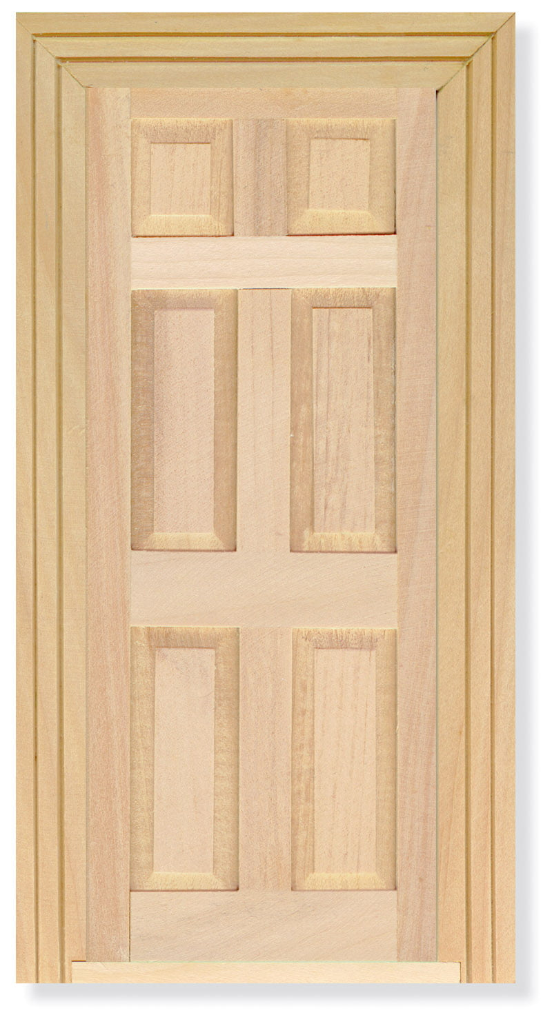 12th Scale Wood Door With Architrave