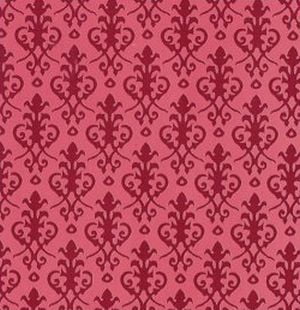 Victorian Red Wallpaper 297mm X 420mm For Dolls House Diy280rr