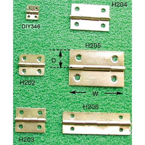 Mini Hinge Collection Brass Plated Craft Materials Hobbies