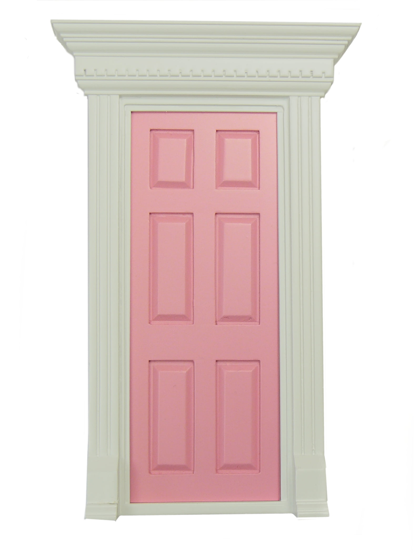 Painted wooden doors for dolls house miniatures and fairy for Wood doors painted trim