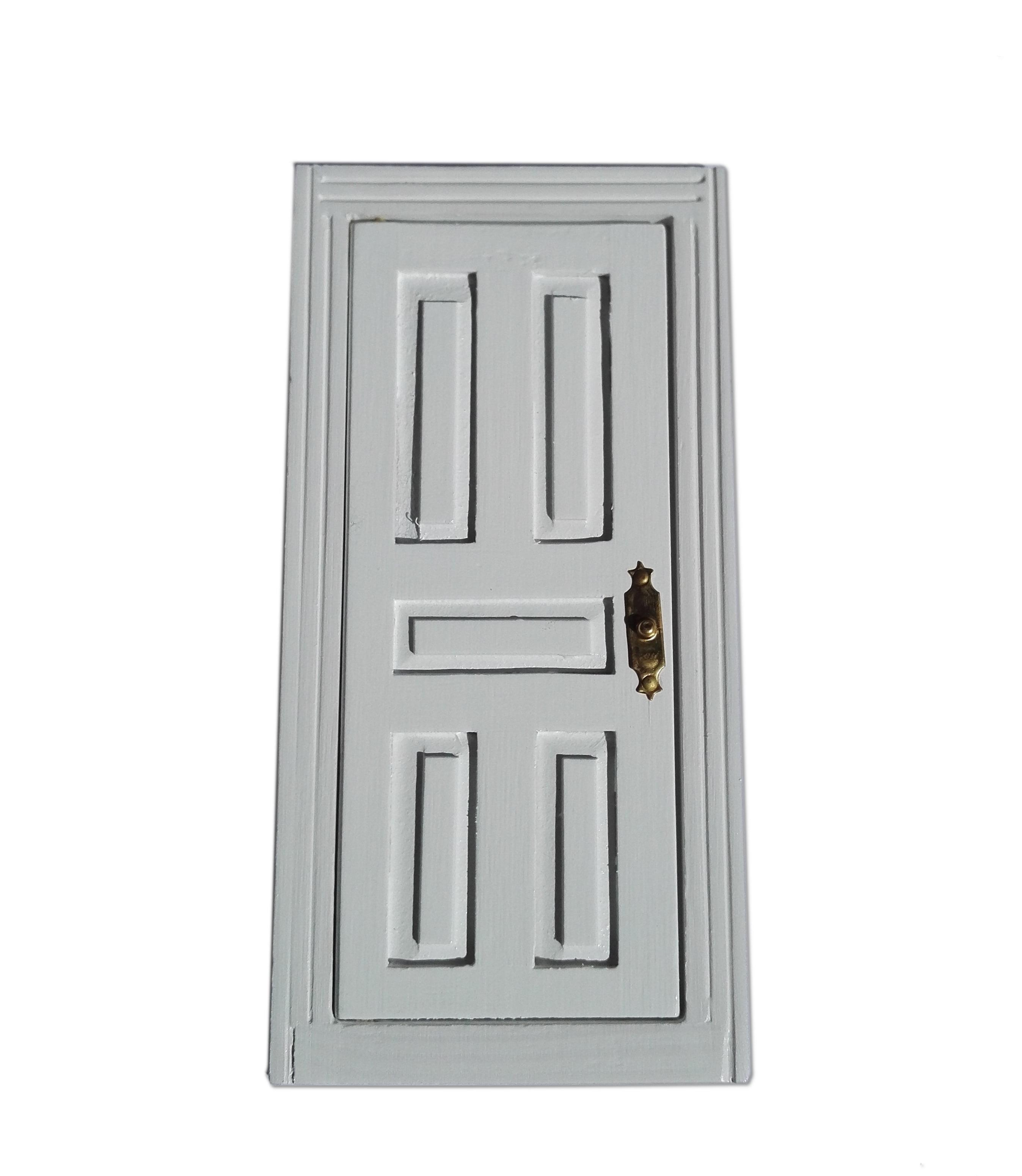 White 5 panel door 1 12 scale for dolls house hobbies for 12 panel door