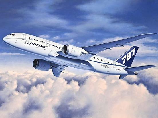 Revell Boeing 787-8 Dreamliner 1:144 Scale Plastic Model Plane Kit