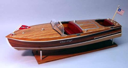 Dumas Chris Craft Racing Runabout 1949 Wooden 18 Scale Model Boat Kit