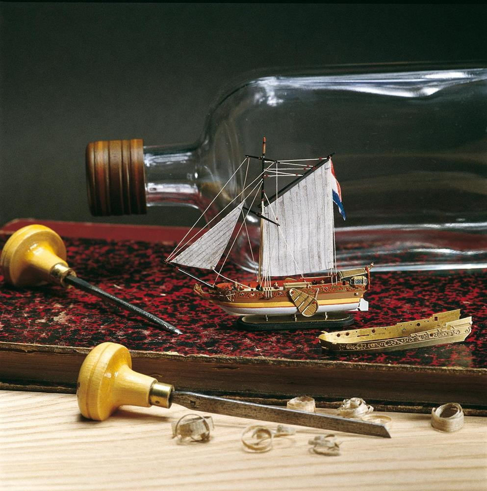 Amati Golden Yacht Ship in a Bottle Kit 1350 | Hobbies