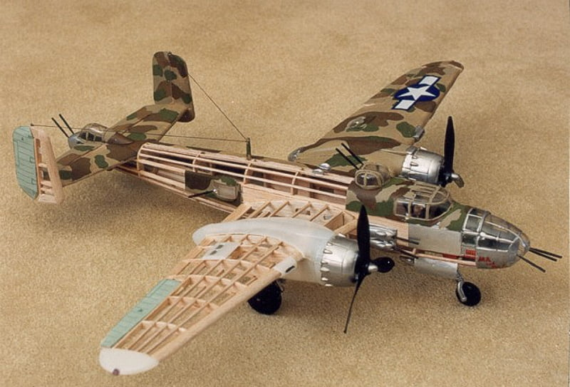 Guillow North American B25 Mitchell Wooden Aircraft Kit