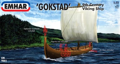 Emhar Gokstad 9th Century Viking Ship 1:72 Scale Detailed ...