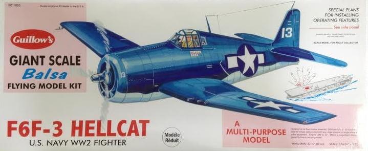 Guillows F6F-3 Hellcat Grumman 16th Scale Balsa Flying ...