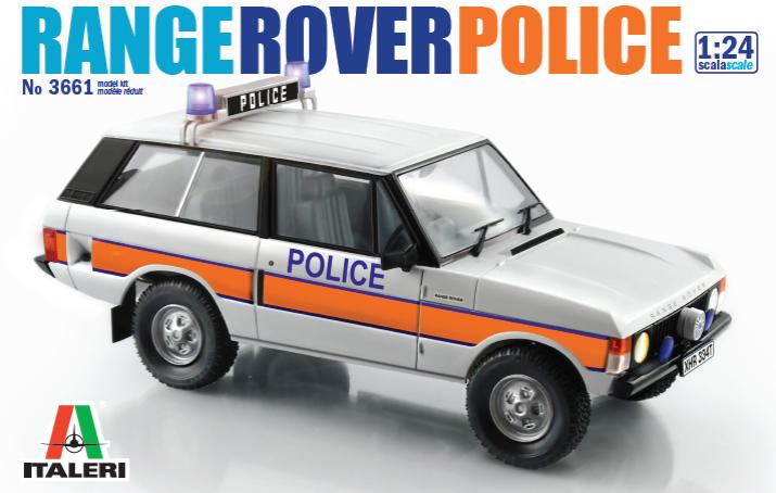 Italeri Range Rover Uk Police Car Kit 24th Scale Plastic Model Kit