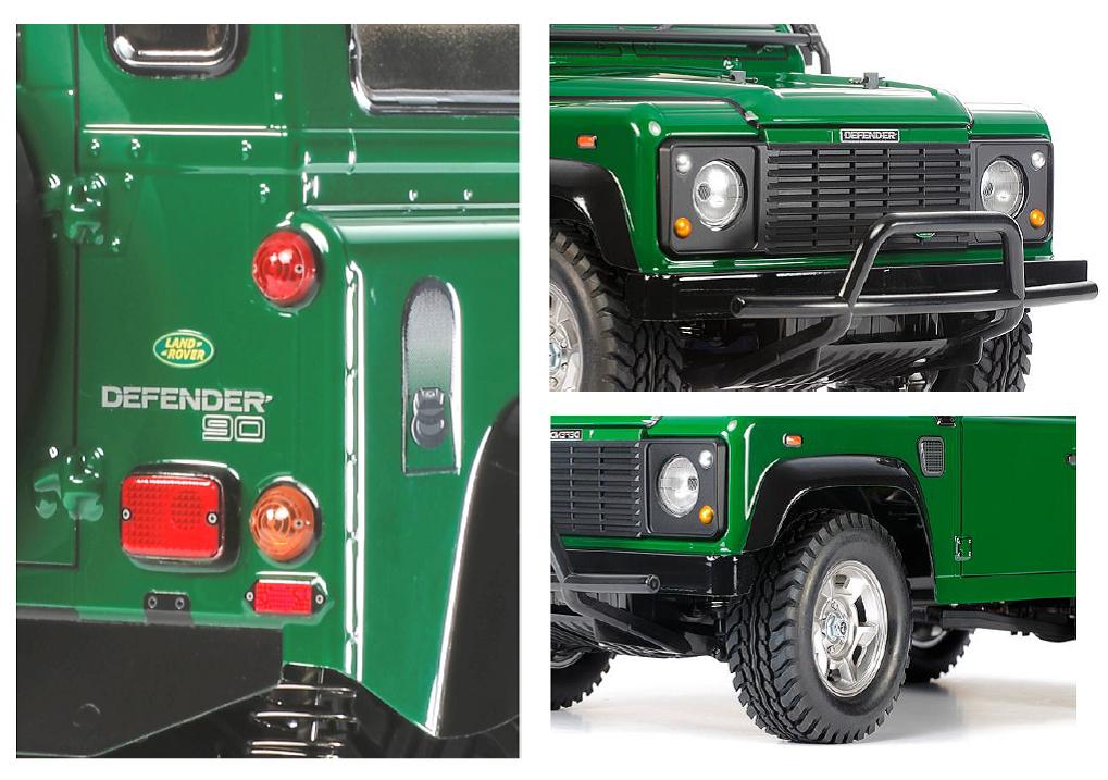 tamiya land rover defender 90 cc 01 radio control model. Black Bedroom Furniture Sets. Home Design Ideas