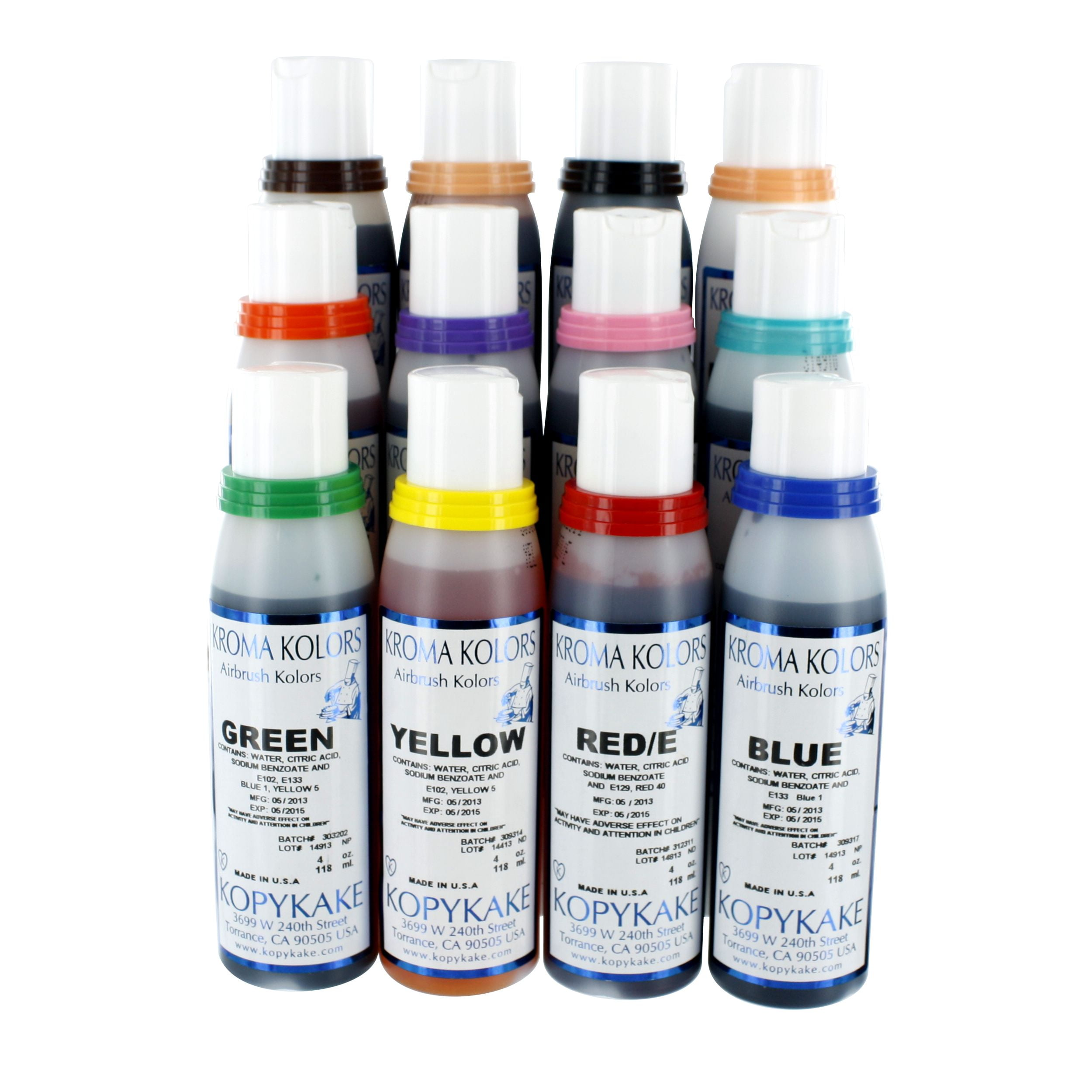 Kroma Kolors Set of 12 Liquid Food Colouring for Cake Decorating and ...