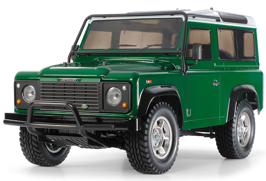 Land Rover Models >> Tamiya Land Rover Defender 90 Cc 01 Radio Control Model Kit 58657