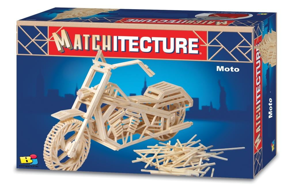 Matchitecture Motorcycle Matchstick Kit 6649 Hobbies