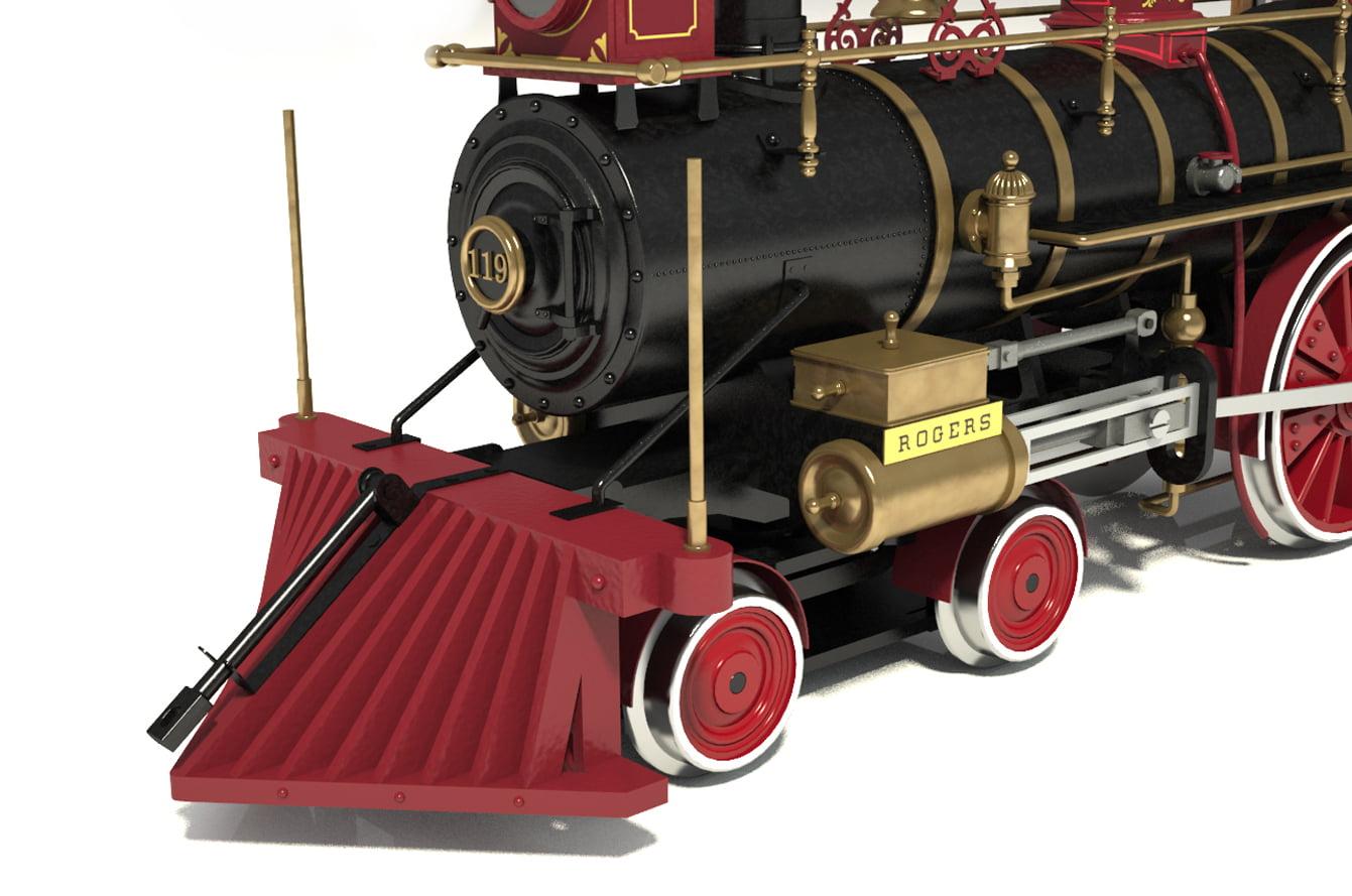 Occre Rogers 119 Wild West Locomotive 1 32 Scale Model