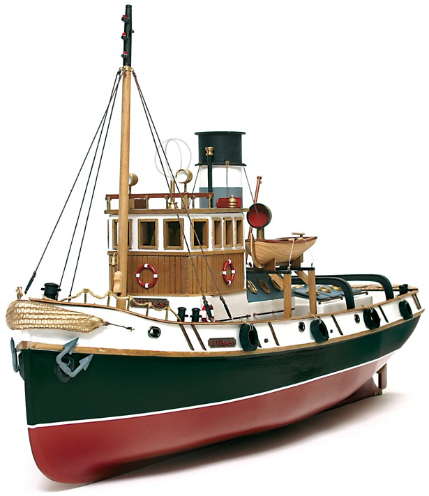 Occre Ulises Tug 130 Scale Model Rc Wood And Metal Boat Kit