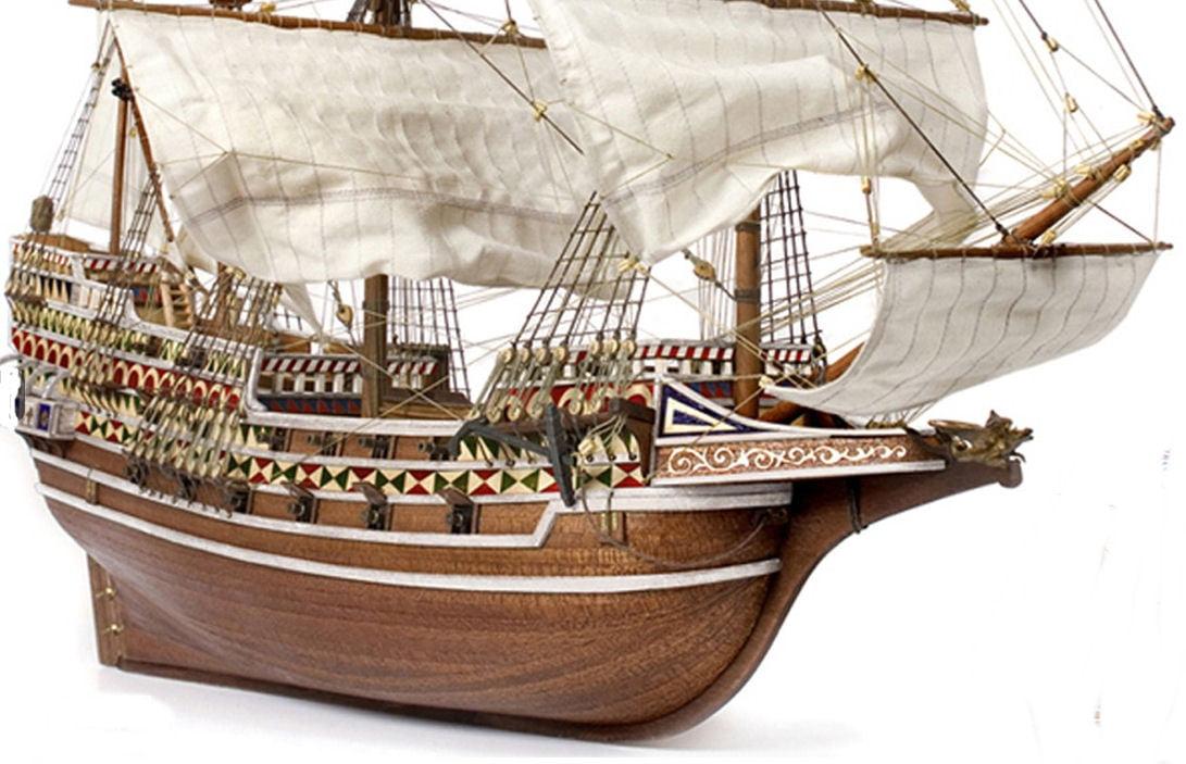 Occre Hms Revenge Galleon Wooden Model Ship 1 85 Scale Boat