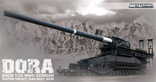 Soar Art Dora WWII German Railway Gun Plastic Model Kit