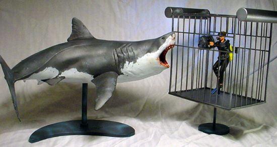 Pegasus Great White Shark Plastic Model 1 18th Scale 9501