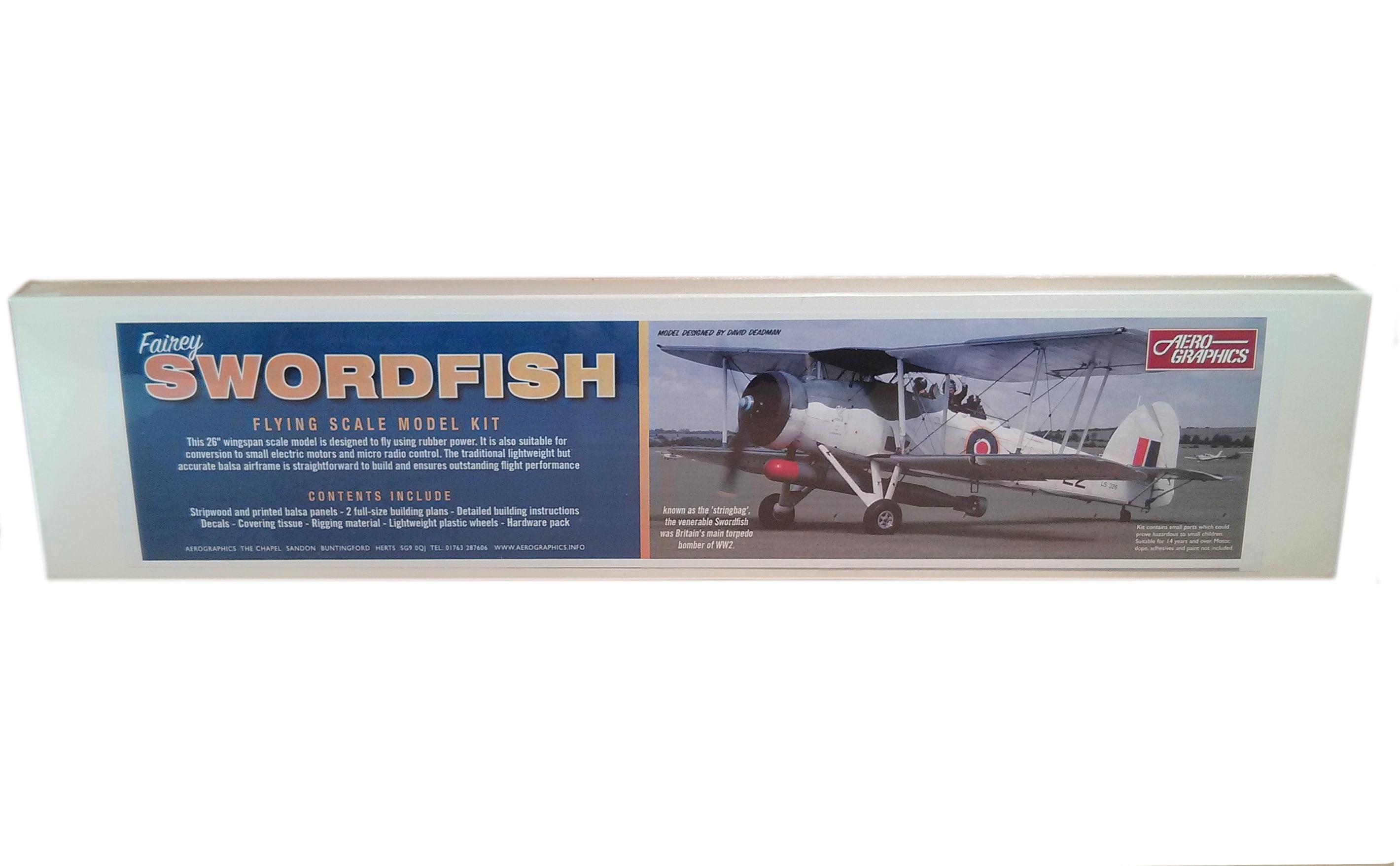 Aerographics Fairey Swordfish G334 Wooden Balsa Plane Kit | Hobbies