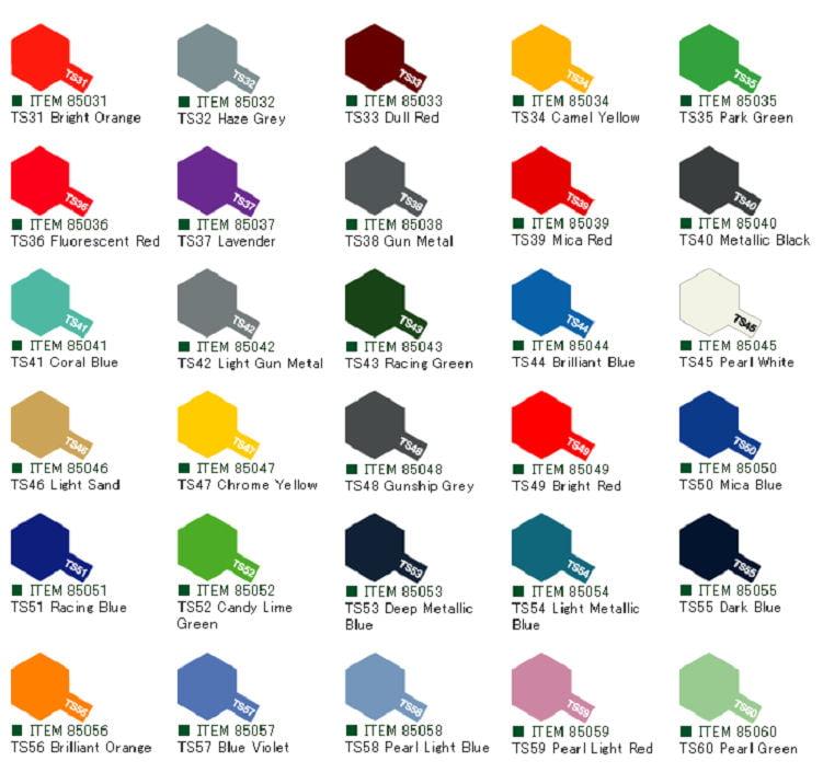 Tamiya Colour Spray Paint 100ml Ts31 Ts60